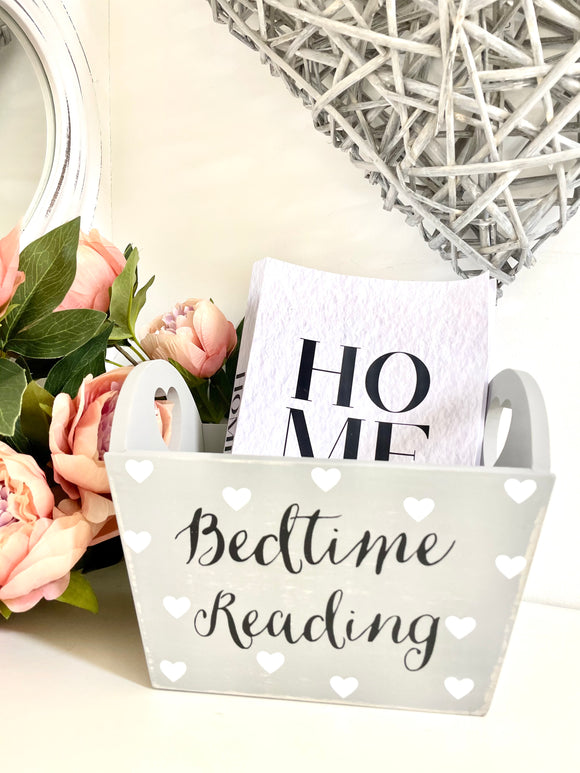 Grey Bedtime Reading Crate