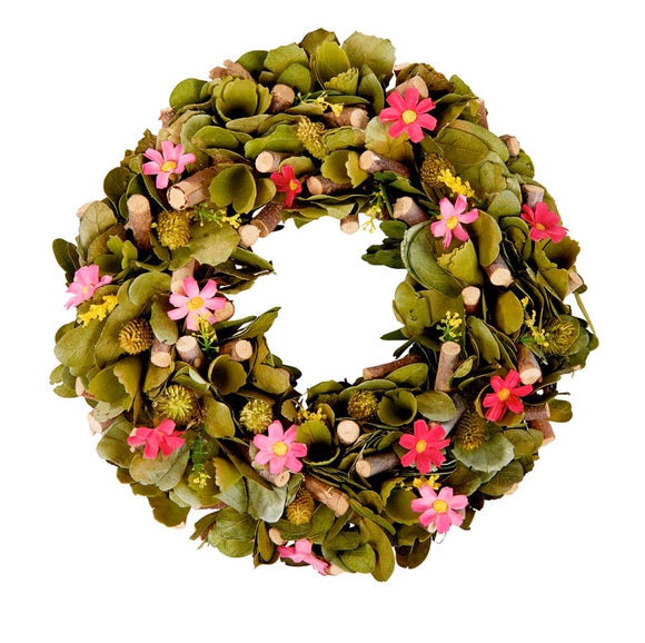 Pale Pink Floral Wreath
