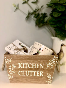 Wooden Kitchen Clutter Crate