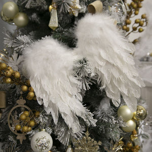 White Feather Angel Wings 40cm