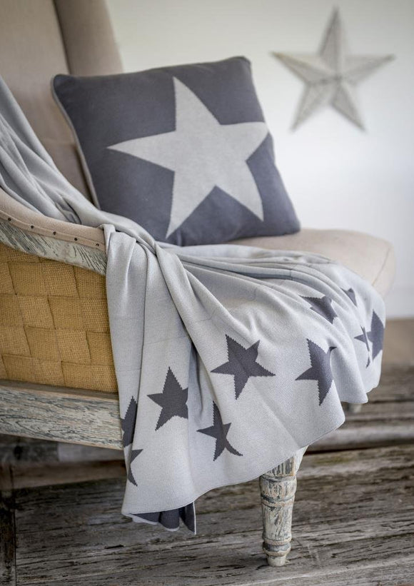 Two Way Grey Star Throw