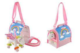 Rainbow Unicorn Teddy and Carrier