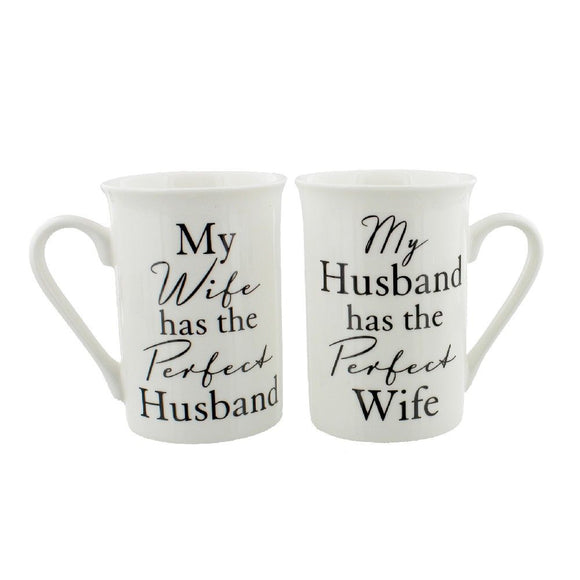 Mug Gift Set Perfect Husband and Wife