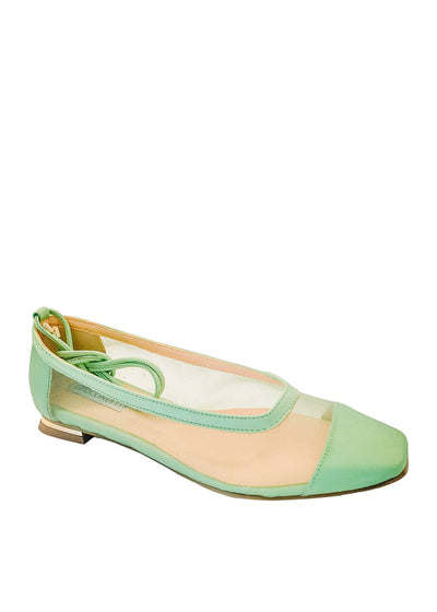 Cecconello avocado green ballerina flat 1588002 | Perth WA