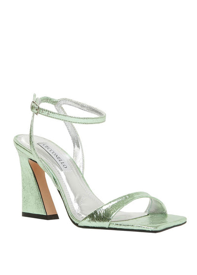 Cecconello green metallic square toe sandal 1590003-2 | Perth WA