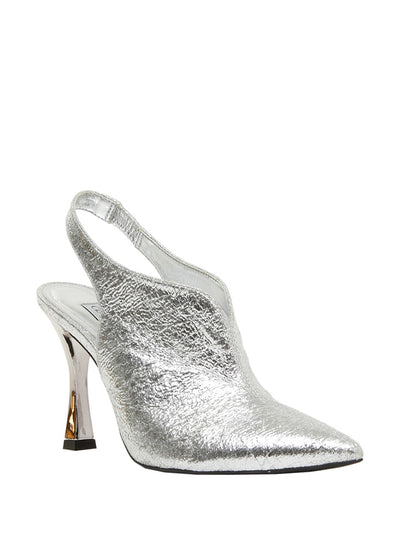 Silver open back heeled pumps | Perth WA