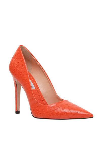 Classic stiletto heel pump with crocodile patterned leather | Perth WA