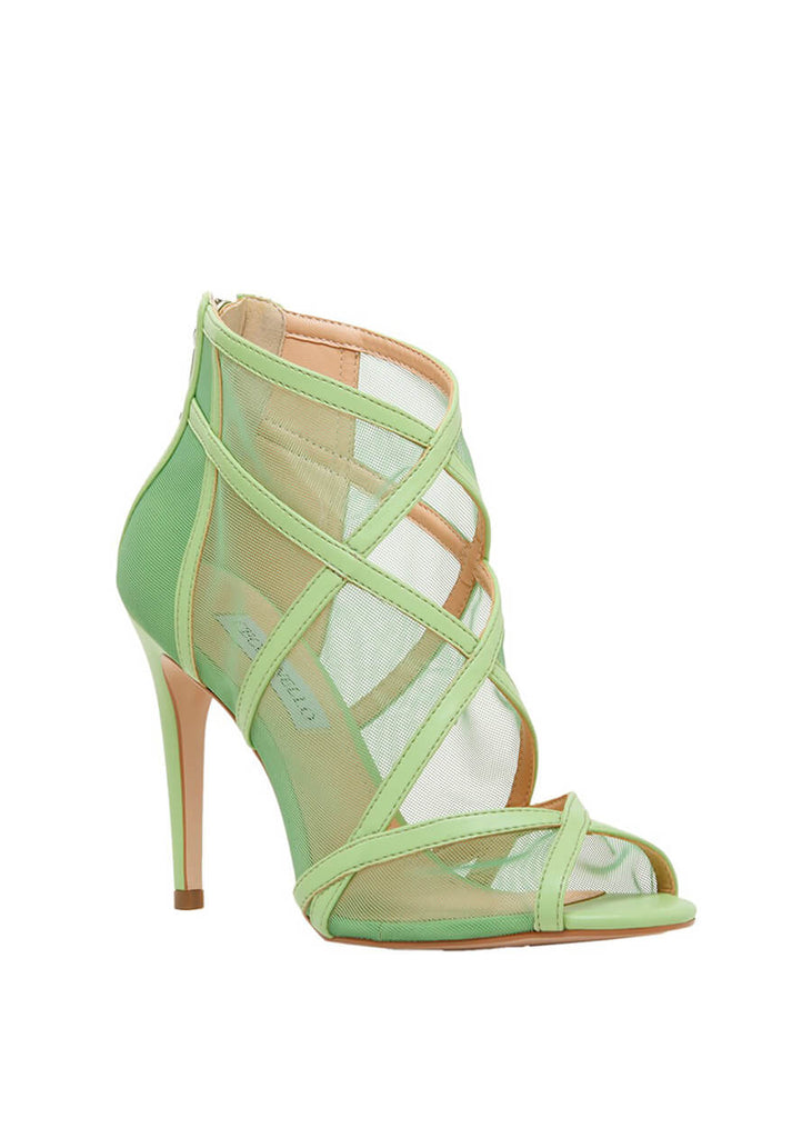 Cecconello stiletto heel green peep-toe sandal 1611001-2 | Perth WA