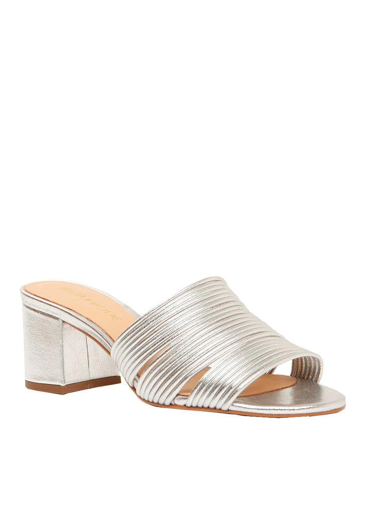 Strappy metallic silver clogs | Perth WA