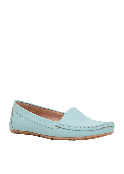 Cecconello pastel blue moccasins/loafers 1627001-3 | Perth WA