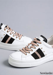NeroGiardini E010674D white sneakers | Dimario Italian Shoes Perth WA