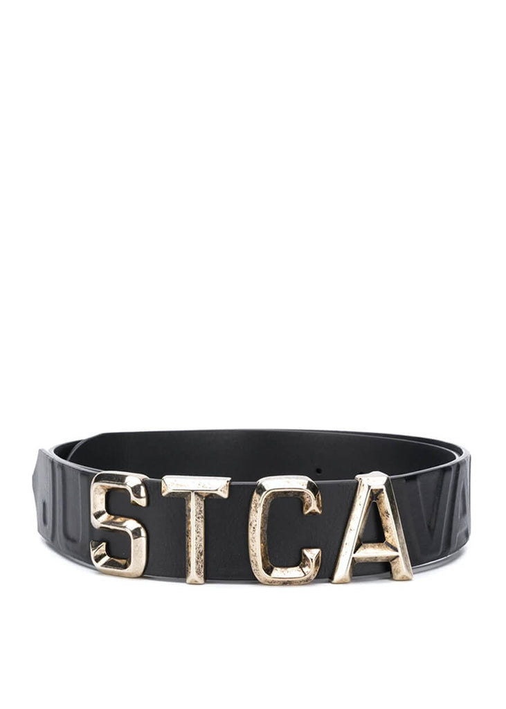 Just Cavalli Logo Plaque Belt - Black