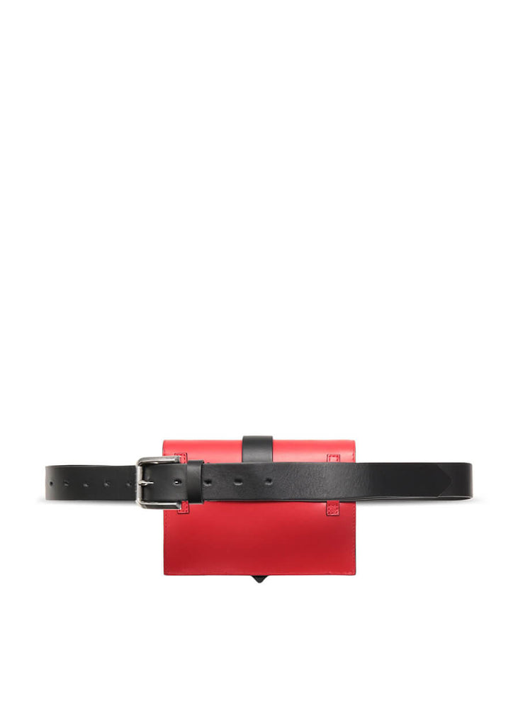 S07WG0165PR227-311 Just Cavalli Belt bag with STCA logo - Poppy Red | PERTH WA