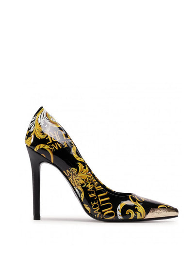 E0VZAS01 71560 M27 Versace Jeans Couture - Gold Tip Leather Pumps | Perth WA