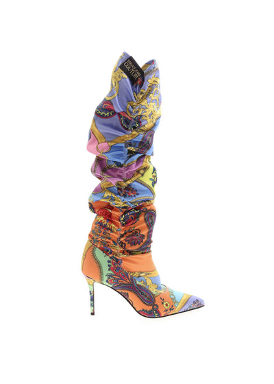 Versace Jeans Couture - Chloe Paisley Printed Fabric Boots