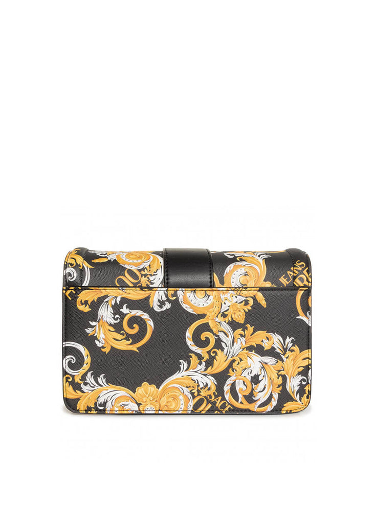 Versace Jeans Couture - Printed Saffiano Pu Buckle Hand Bag