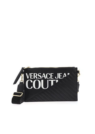 E1VZBBGX 71728 899 Versace Jeans Couture White Logo Clutch Bag | Perth WA