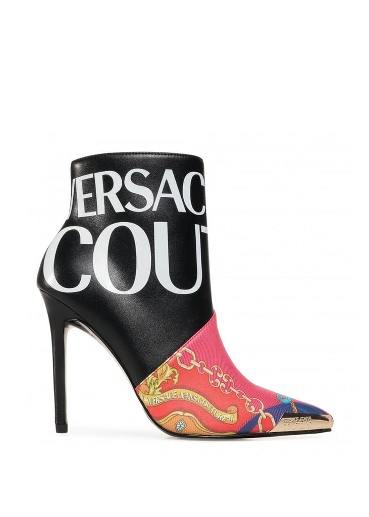 E0VZBS05 71754 M09 Versace Jeans Couture Gold Tip Leather Ankle Boots | Perth WA