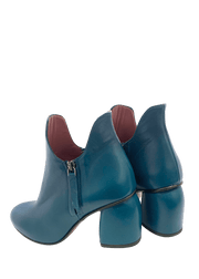 Teal blue ankle boots | Dimario Italian Shoes Perth WA