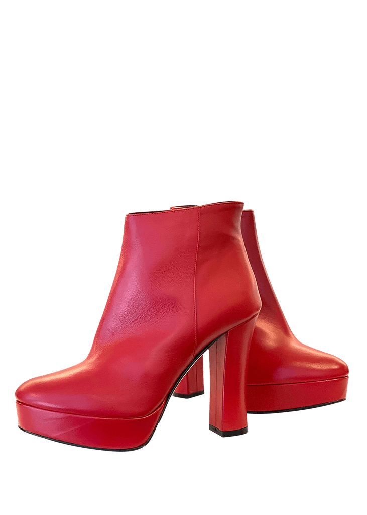 Ankle Boots Nappa Red | Dimario Italian Shoes - Perth WA