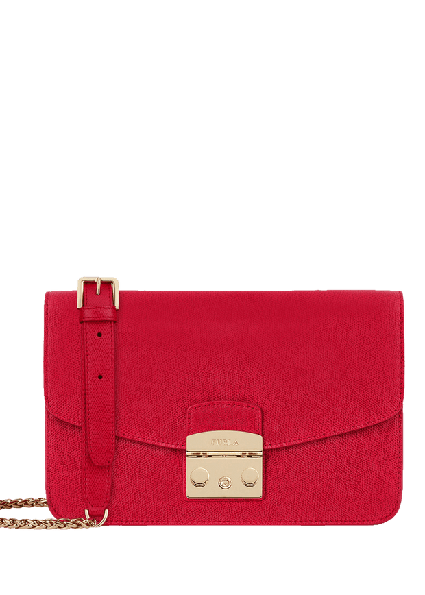 972393 Furla Metropolis Shoulder Bag - Ruby Red | Designer women's handbags - Perth, WA, Australia