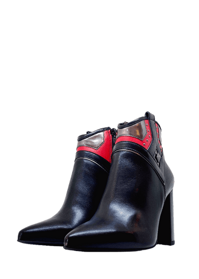 Made in Italy Nappa Pandora Block Heel Ankle Boot - NeroGiardini | Dimario Shoes Perth