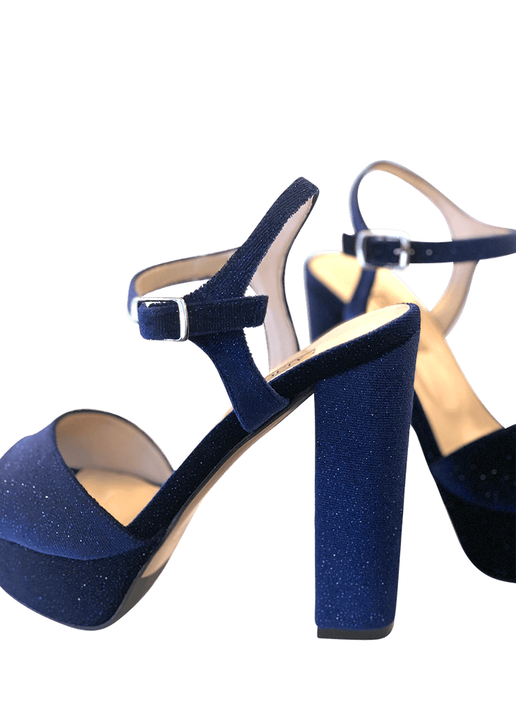 Blue high heel platforms | Dimario Italian Shoes - Perth WA