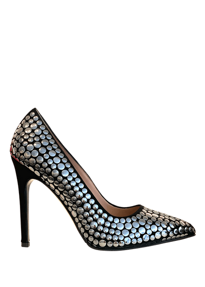 Nero Camoscio Stiletto Heel | Made by Dimario Italian Shoes Perth WA