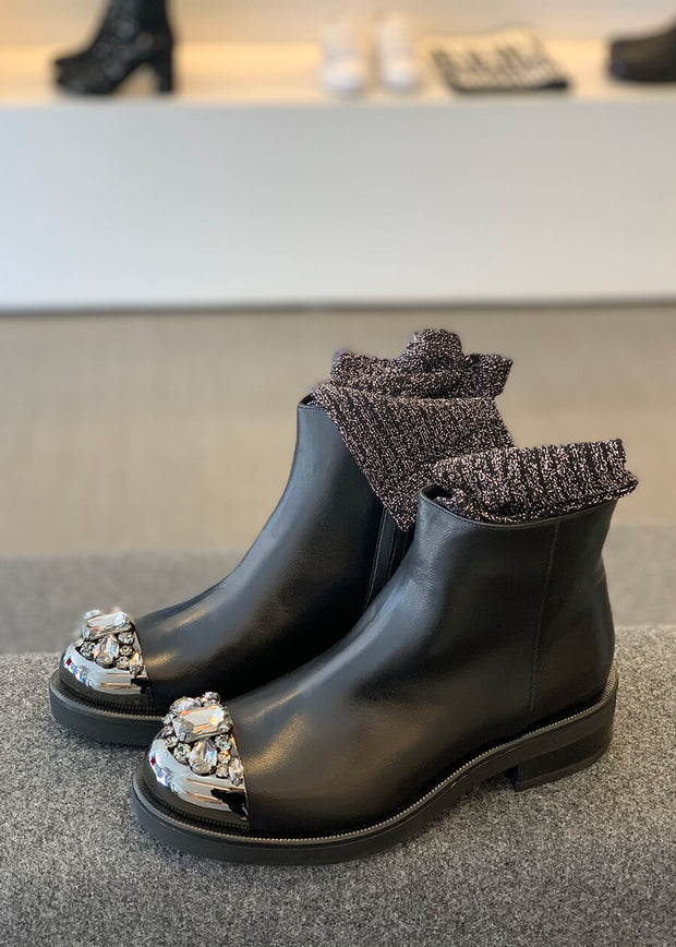 Short Ankle Boot - Rio Nero | Dimario Italian Shoes Perth WA