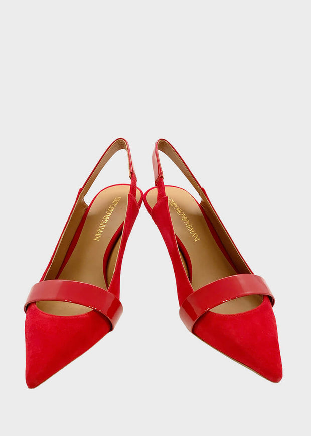 Emporio Armani Perth WA - Sling Back Pump - Red [X3E363] - Dimario Shoes Subiaco