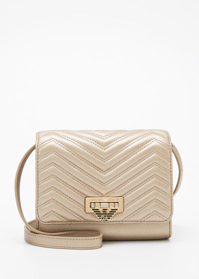 Emporio Armani Perth - Amy Chevron shoulder/across-body bag in Platinum [Y3E159YFN9B86300] - Dimario Shoes Subiaco WA