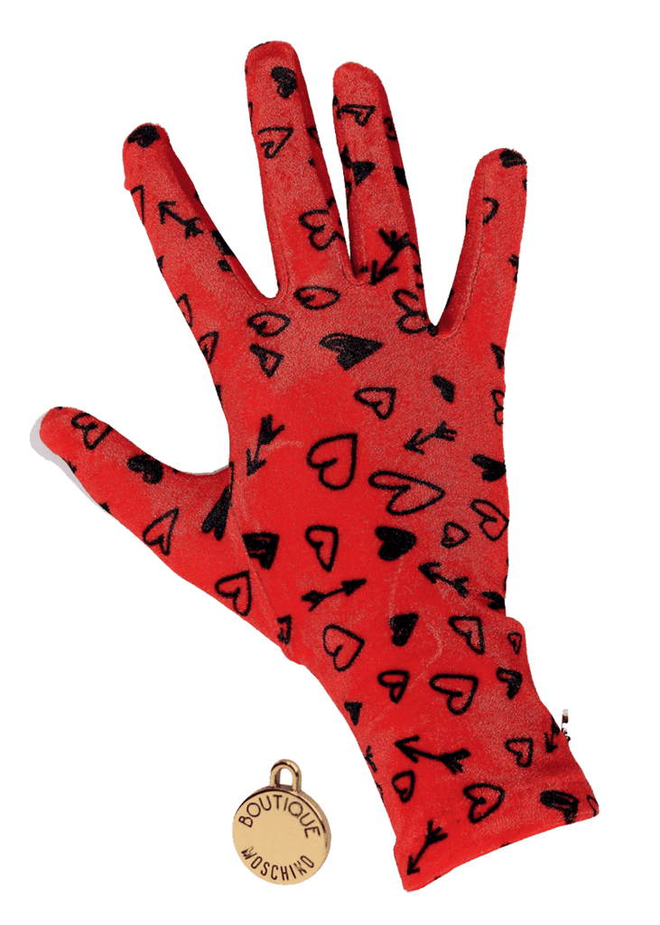 Boutique Moschino 65031 M1928 2 | Printed Gloves - Perth WA