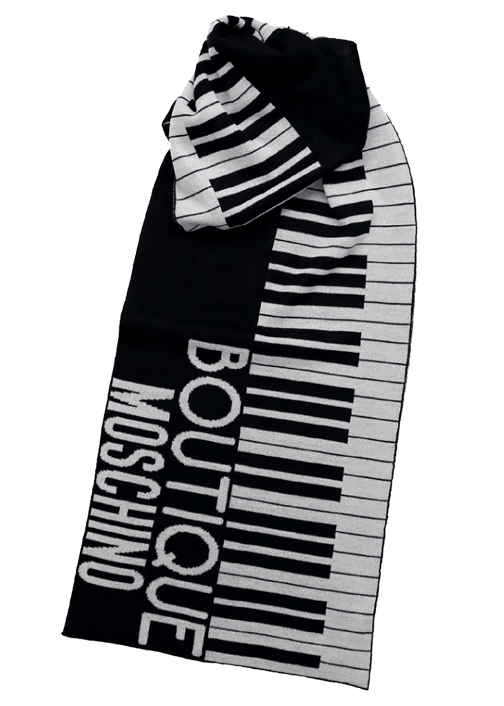 Boutique Moschino Piano Scarf 30582 M1898 - Designer scarf, outerwear & accessories - Perth WA