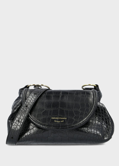 Emporio Armani - Hobo Shoulder Bag in Black [Y3E176]