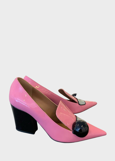 Emporio Armani - Patent Leather Pumps Pink [X3F133]