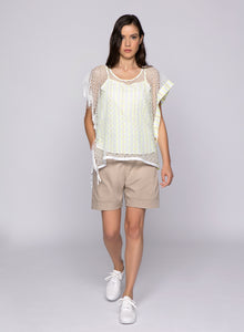 Lace Sweater with fringes