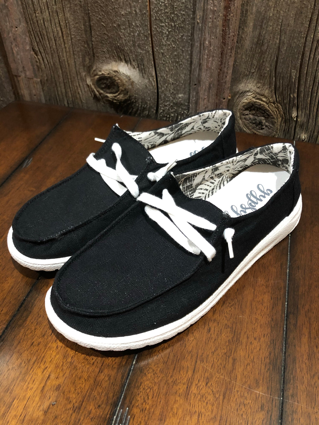 Solid Black Holly Canvas Sneaker