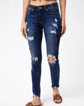 Load image into Gallery viewer, Kan Can Super Distressed Mid Rise Denim