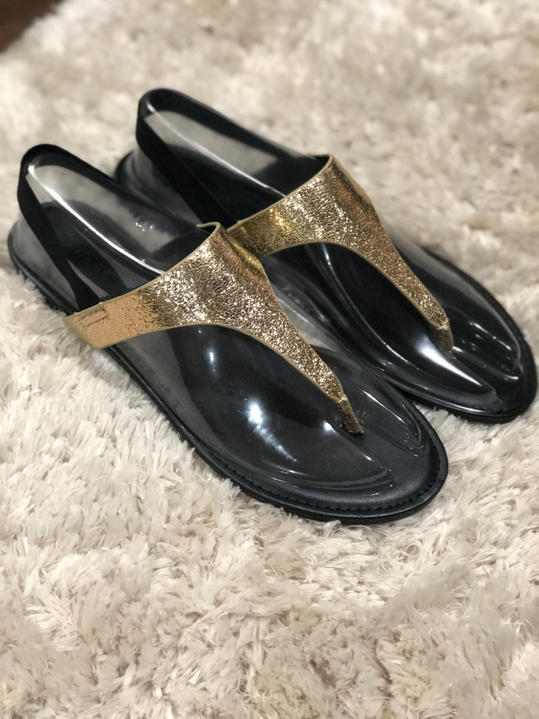 SALE! Gold Sling Back Sandals