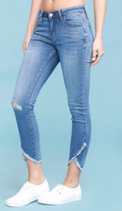 Judy Blue Light Wash Tulip Hem Skinny