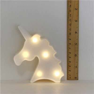 Night Lights Unicorn/Flamingo/Cactus/Pineapple/Cloud/Star/Shell/Heart LED Lamp - Ocloq Shop