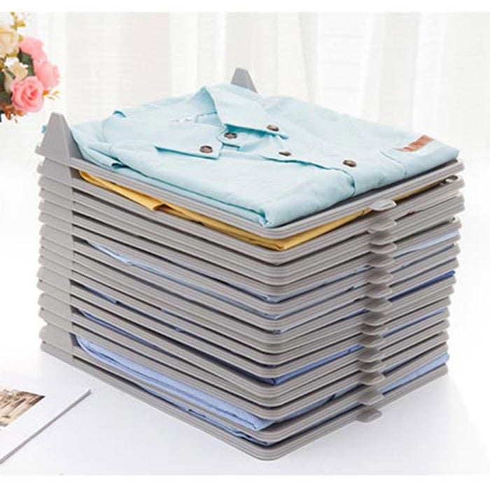 5Pcs/1Set Closet Clothes Storage And Folder Tray Shirt Organizer - Ocloq Shop