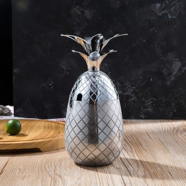Pineapple Cocktail Glass Stainless Steel - Ocloq Shop