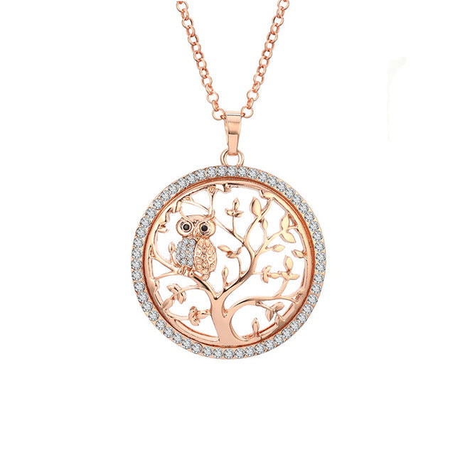 Owl Tree of Life Necklace - Ocloq Shop