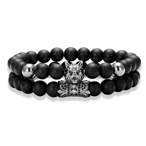 Retro Wolf Head Bracelet Deluxe - Ocloq Shop