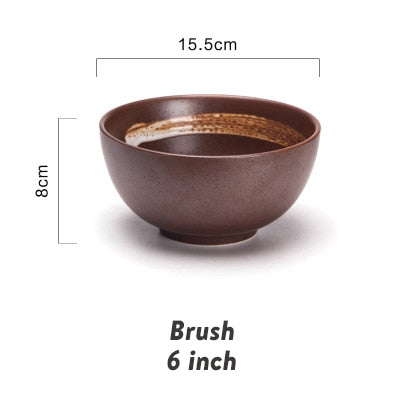 Japanese Classical Ceramic Tableware Kitchen Soup Noodle Rice Bowl - Ocloq Shop