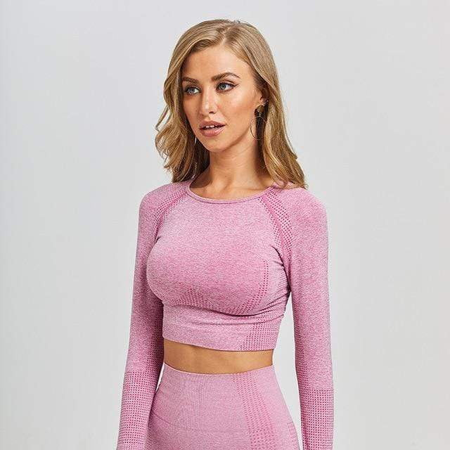 LONG SLEEVE TOP FOR FITNESS WOMEN - Ocloq Shop