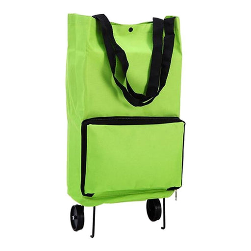 Portable Shopping Trolley Bag With Wheels Ocloq