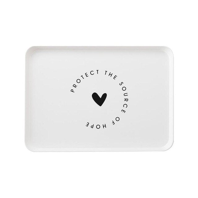 Nordic Style Minimalist Plastic Household Tray - Ocloq Shop