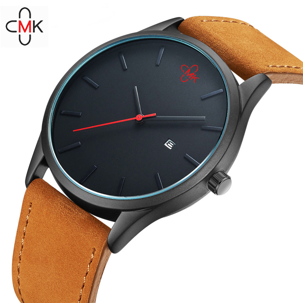 2018 CMK Military Leather Business Quartz Watches - Hand Tech Watches